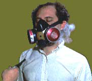 fit testing half face respirator with irritant smoke