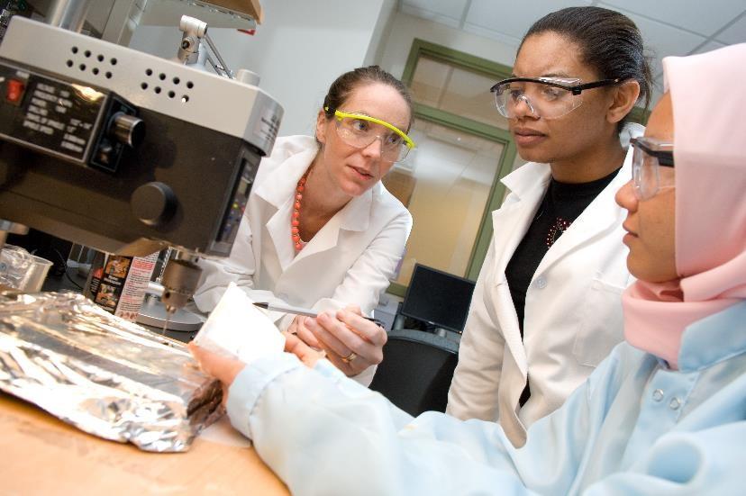 Three technicians in lab
