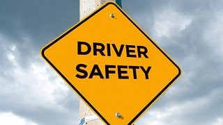 driver safety road sign