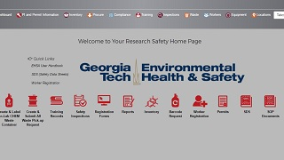 main screen when logged in to EHSA